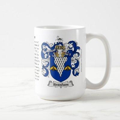 Branham Family Coat of Arms Coffee Mug