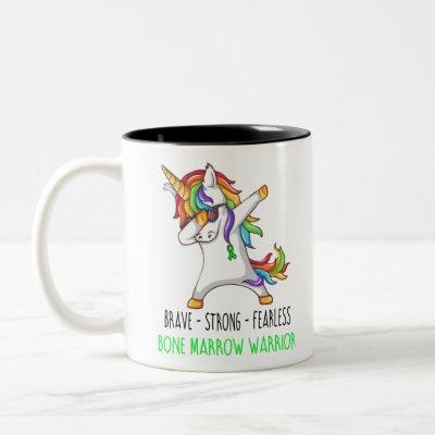 Brave Strong Fearless Bone Marrow Warrior Two-Tone Coffee Mug