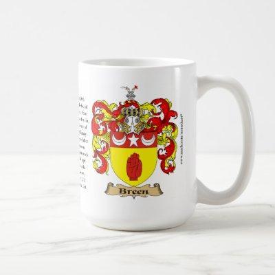 Breen Family Coat of Arms Coffee Mug