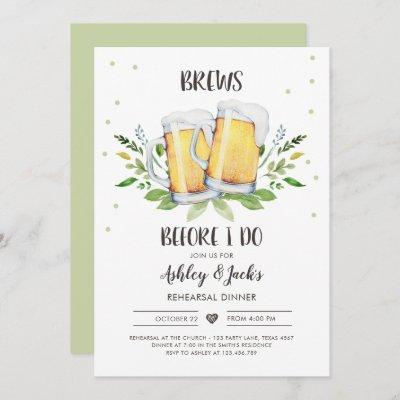 Brews Before I Do Rehearsal Dinner Invitation Coed
