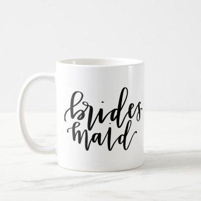 Bridesmaid Calligraphy Coffee Mug