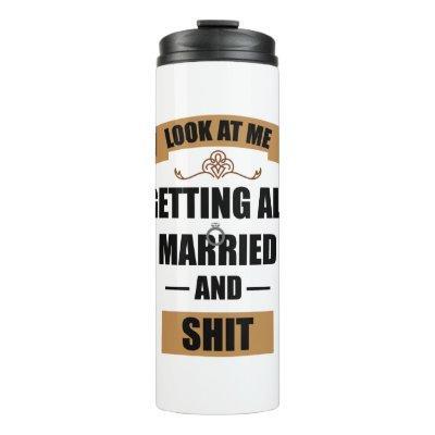 Bridesmaid Shirt Drunk Bachelorette Party Wedding Thermal Tumbler