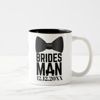 Bridesman Bow Tie Wedding Favor Two-Tone Coffee Mug