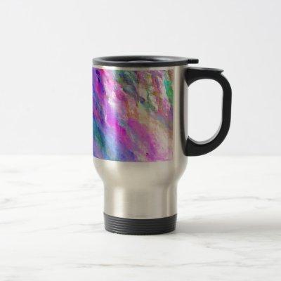 Bright Pastel Colors Abstract Monet like Pattern Travel Mug