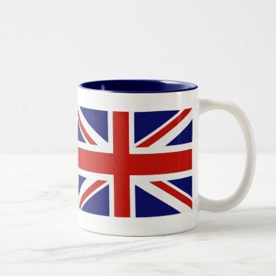 British flag Two-Tone coffee mug