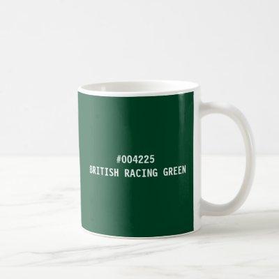 British Racing Green Color hex Code Mug