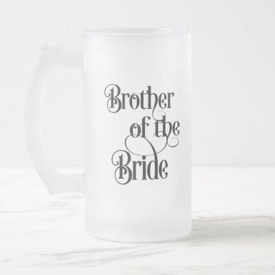 Brother of the Bride Frosted Glass Beer Mug