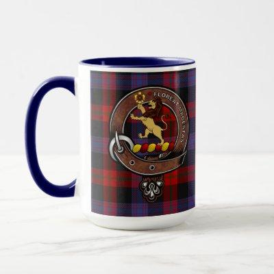 Brown Clan Badge & Tartan Mug