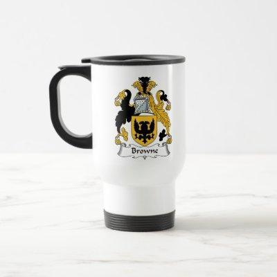 Browne Family Crest Travel Mug