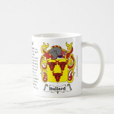Bullard, Origin, Meaning and the Crest on a mug
