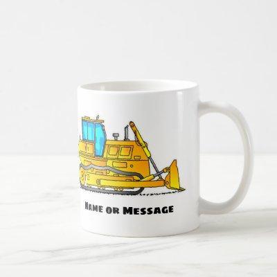 Bulldozer Mug, Excavator Mugs, Construction Theme Coffee Mug