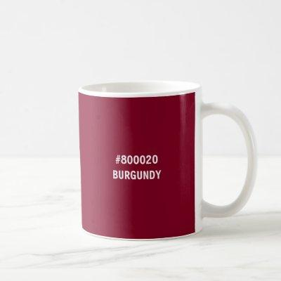 Burgundy Color hex Code Mug