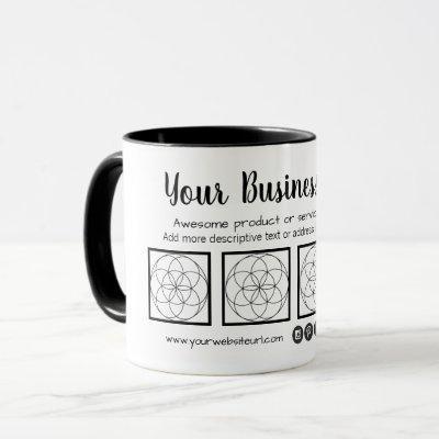 Business Card Style Mug with 4 Photos
