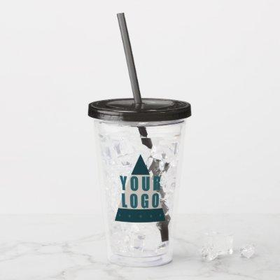 Business Logo Printed Optional Text Promotional Acrylic Tumbler