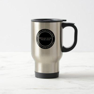 Business Logo Travel Mugs