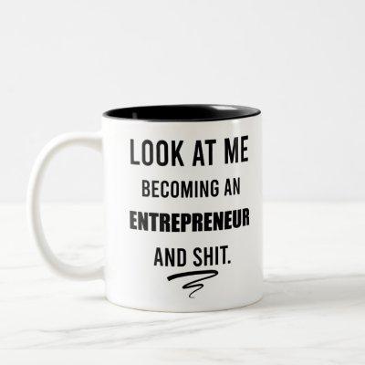 Business Shirt Leadership Shirt Funny Entrepreneur Two-Tone Coffee Mug
