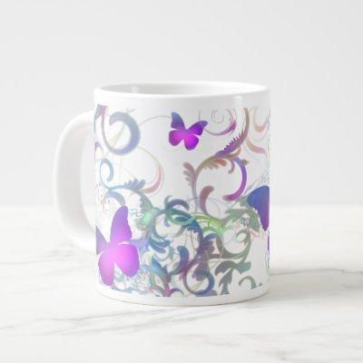 Butterflies Large Coffee Mug