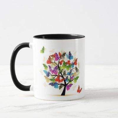 Butterfly tree mug