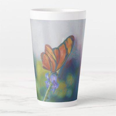 Butterfly Wings Latte Mug