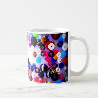 Buttons Coffee Mug | Sewing | Sewer Gift | For Her