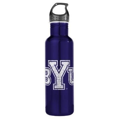 BYU   Distressed Stainless Steel Water Bottle