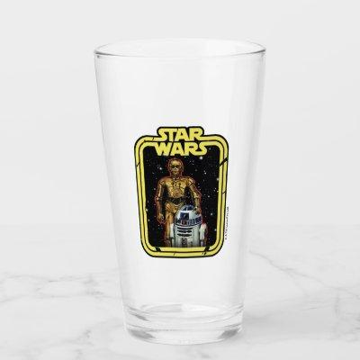 C-3PO & R2-D2 Star Wars Framed Graphic Glass