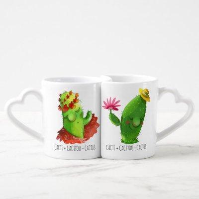 CactI + CactYOU = CactUS Meme Coffee Mug Set