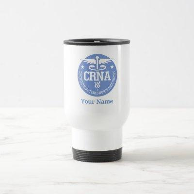 Caduceus CRNA gift ideas Travel Mug