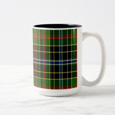 Caldwell Scottish Tartan Two-Tone Coffee Mug