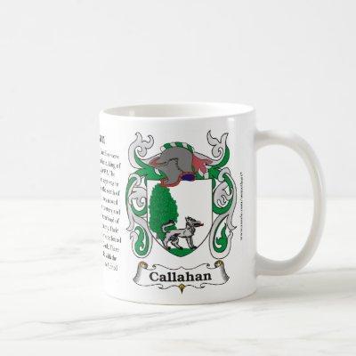Callahan Family Coat of Arms Mug