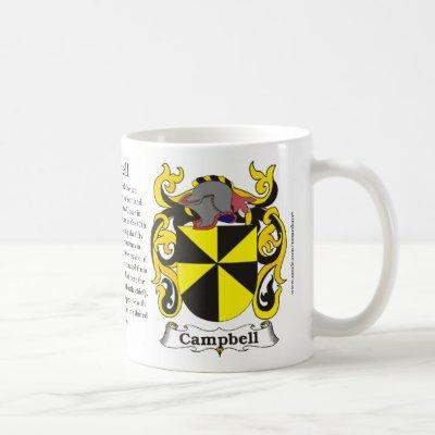 Campbell Family Coat of Arms Mug