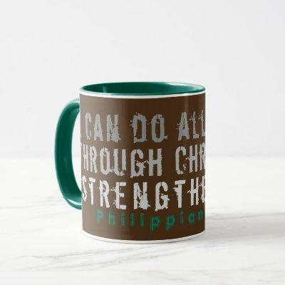 Can Do All Things Scripture Mug Brown