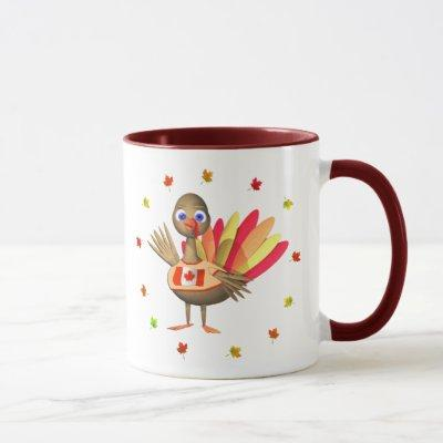 Canadian Thanksgiving Baby Turkey Mug