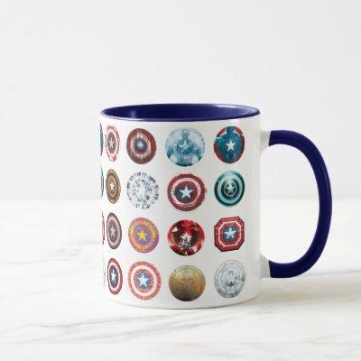 Captain America 75th Anniversary Shield Pattern Mug