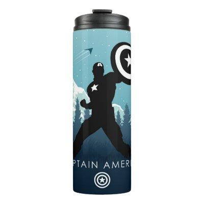 Captain America Heroic Silhouette Thermal Tumbler