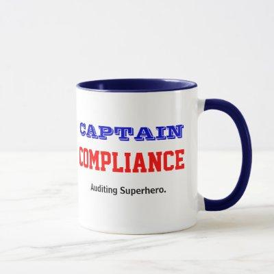 Captain Compliance | Auditing Superhero Auditor Mug