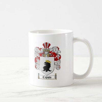 CAPUTO FAMILY CREST -  CAPUTO COAT OF ARMS COFFEE MUG