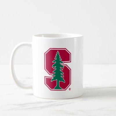 """Cardinal Block """"S"""" with Tree Coffee Mug"""