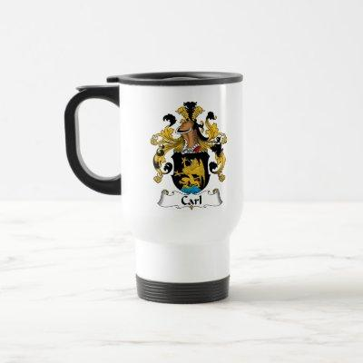 Carl Family Crest Travel Mug