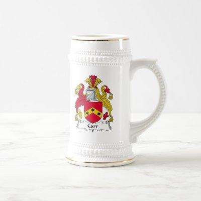 Carr Family Crest Beer Stein