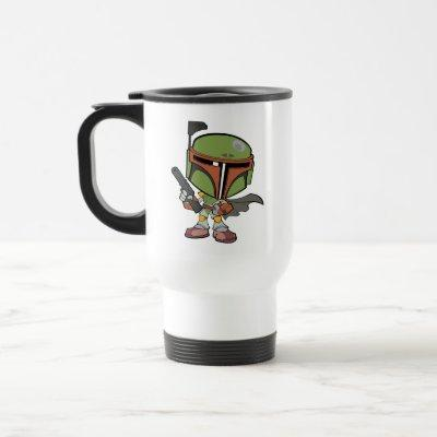Cartoon Boba Fett Travel Mug