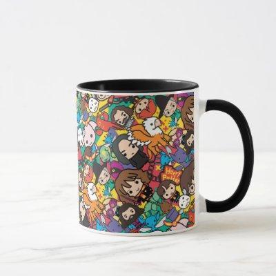 Cartoon Harry Potter Character Toss Pattern Mug