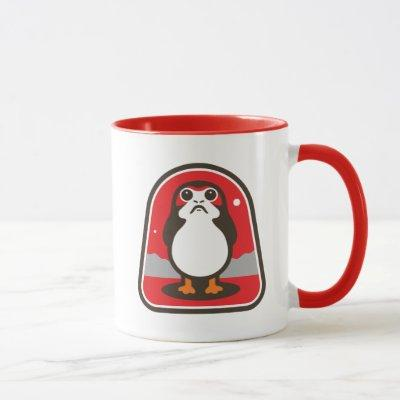 Cartoon Porg Badge Mug