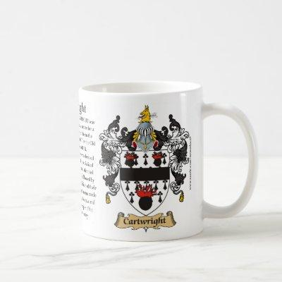 Cartwright Family Coat of Arms (Crest) including t Coffee Mug