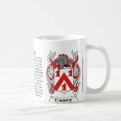 Casey Family Coat of Arms mug