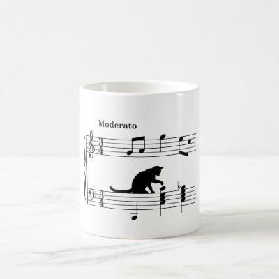 cat_and_note_ver2 coffee mug