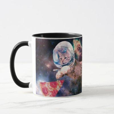 cat astronaut - funny cats - cats in space mug