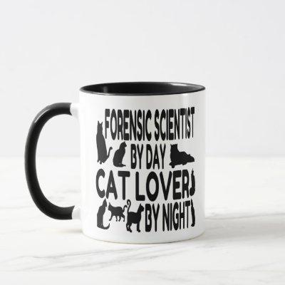 Cat Lover Forensic Scientist Mug