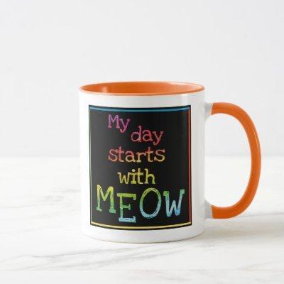 Cat Lover Gift Funny Coffee Tea Choose a Color Mug