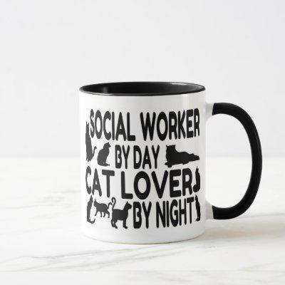 Cat Lover Social Worker Mug